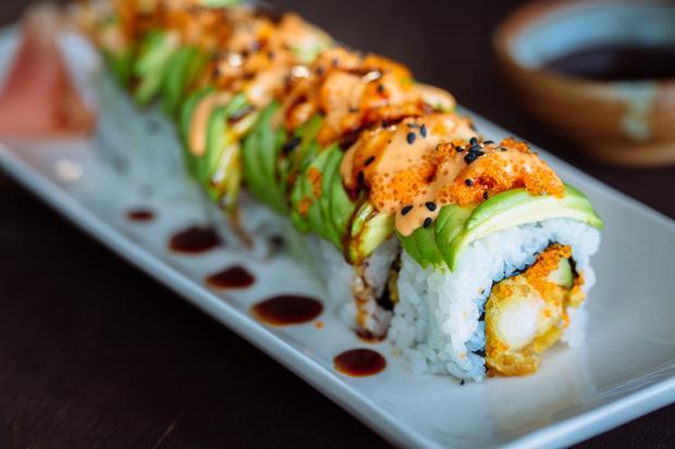 Japanische Küche: Dragon Rolls