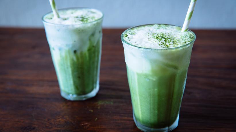 Japanische Küche: Iced Green Tea Latte
