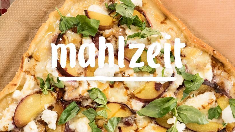 Pizza: Pfirsich küsst Prosciutto