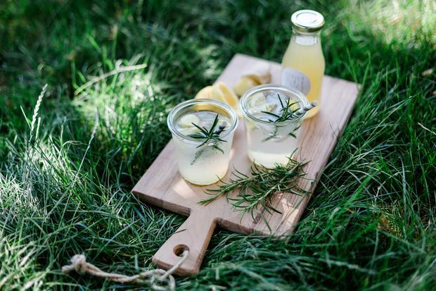 Sommer-Rezepte: Ingwer-Rosmarin-Zitronen-Limonade