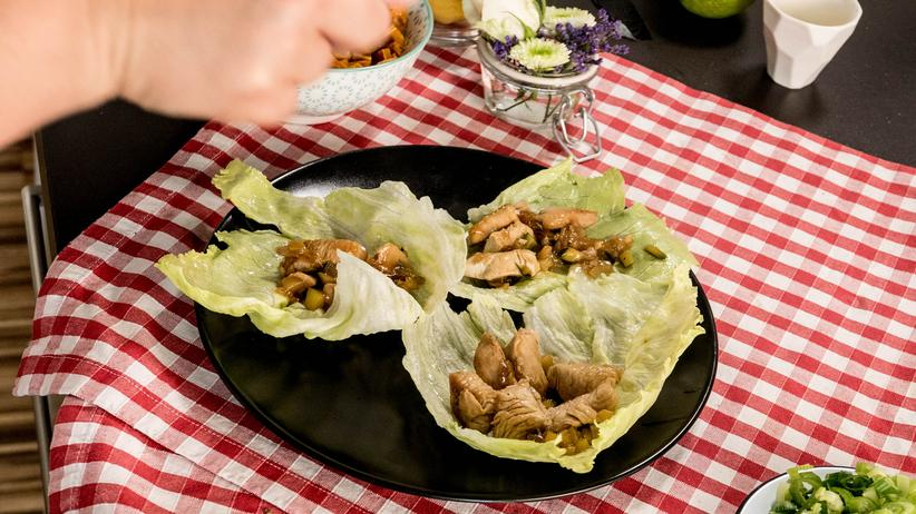 Salat mit Pute und Süßkartoffel