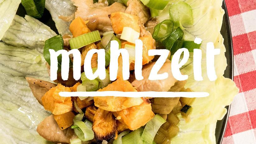 Salat mit Pute und Süßkartoffel: Bereit zum Entern