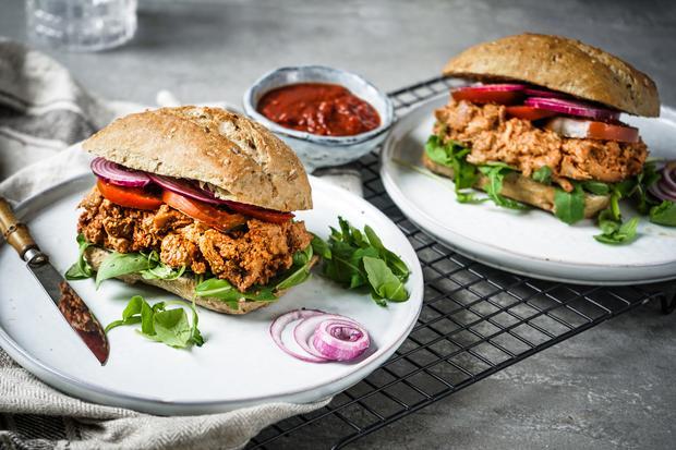 Sandwich mit Pfifferlinge