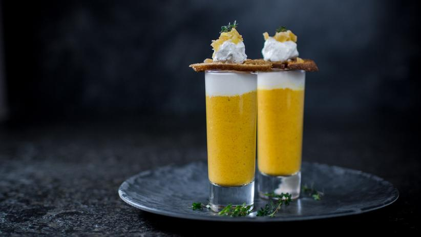 Orangen-Karotten-Ingwer-Shot