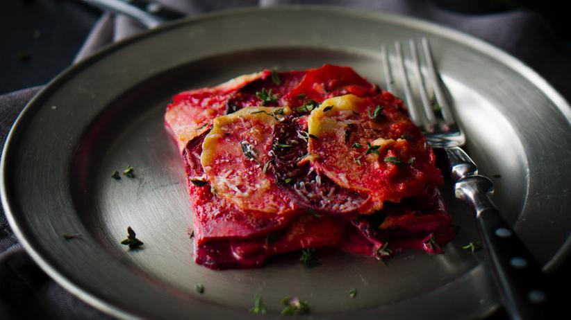Rote Bete Kartoffelgratin