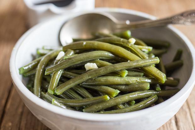 Rosmarinkartoffeln: Grüne Bohnen