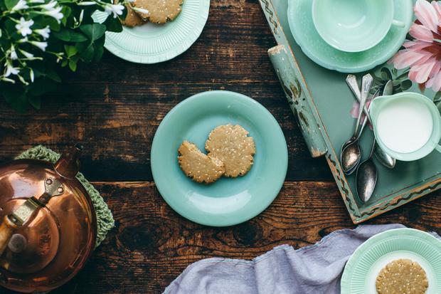 Sauerteigbrot: Sesam-Cookies