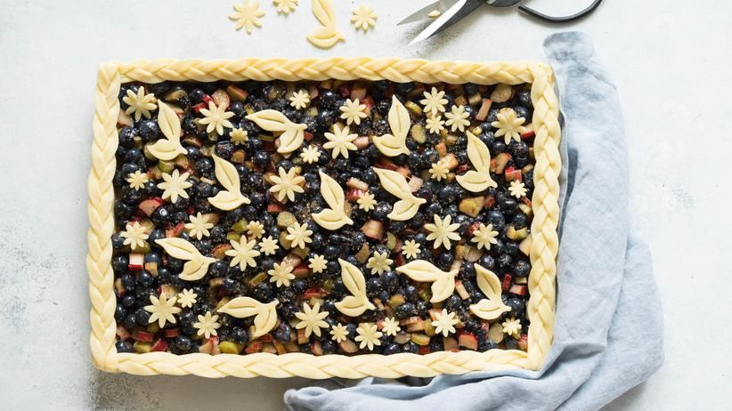 Blaubeer-Rhabarber-Pie: Ein Pie für alle Fälle