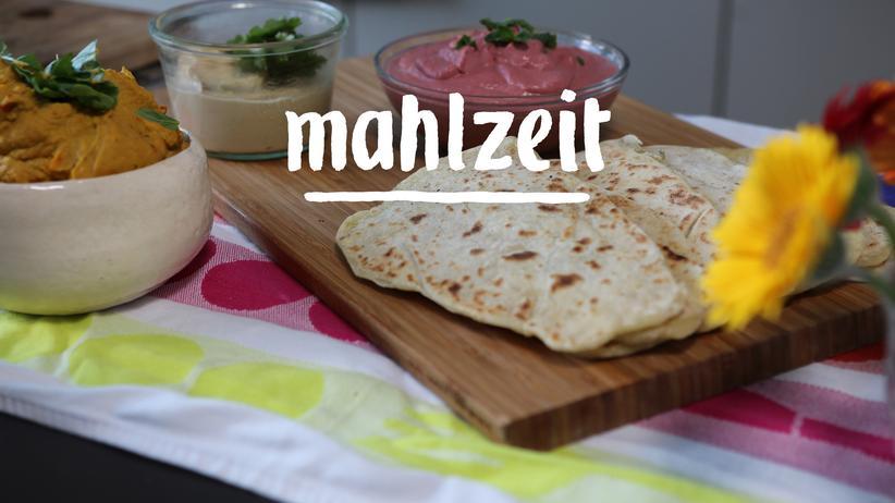 Dreierlei Hummus mit Naan: Der beste Matsch der Welt