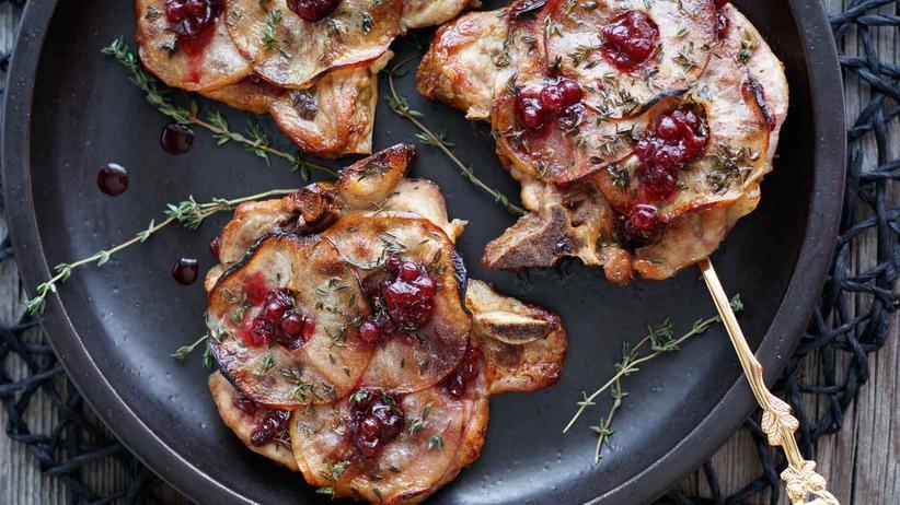 Feigentarte: Auch für Gäste sehr geeignet, denn die Koteletts werden einfach im Ofen gebacken.