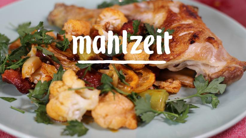 Chorizo mit Gemüse: Ein ganz heißes Blech