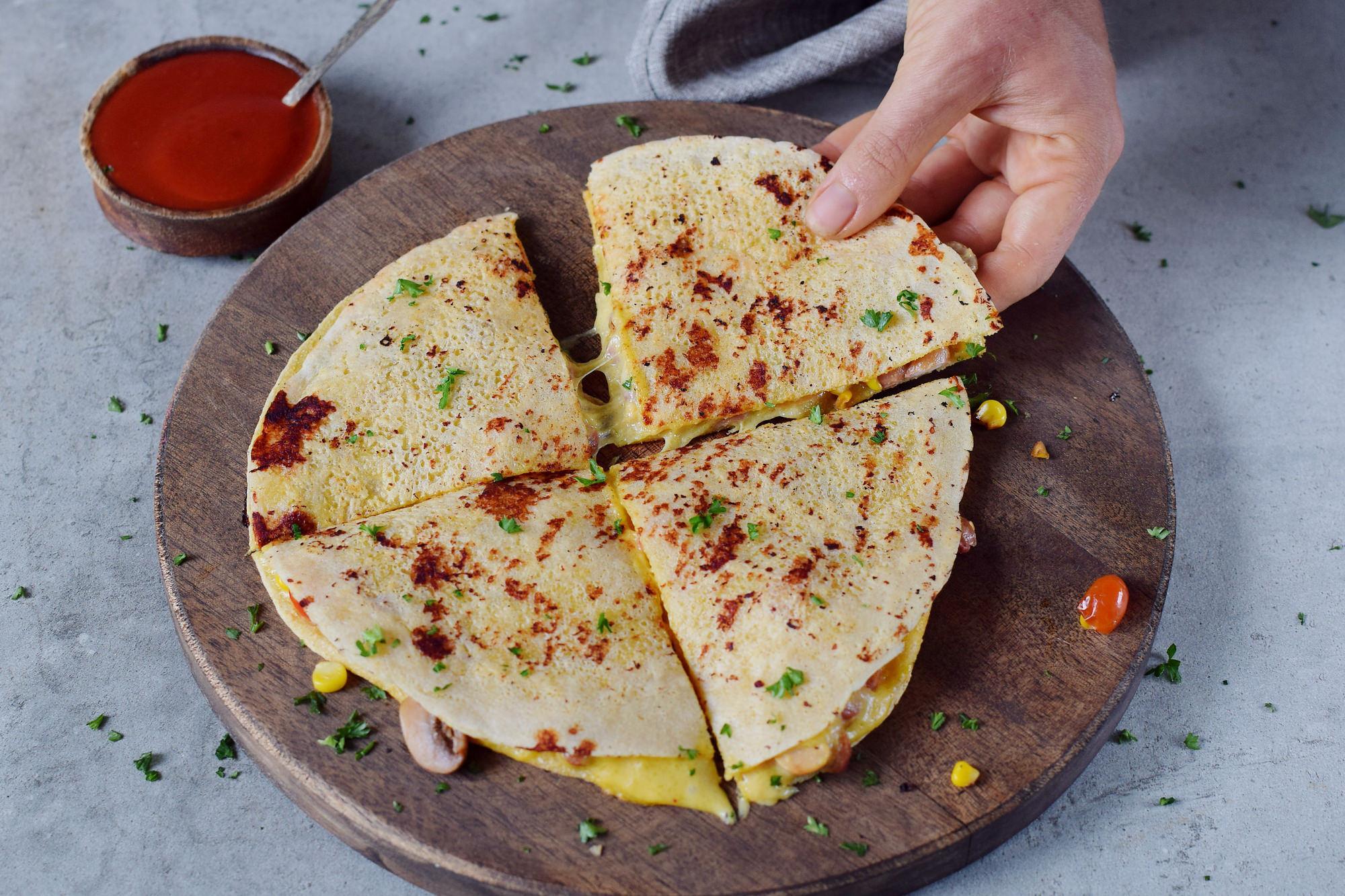Kein Käse, diese Quesadillas