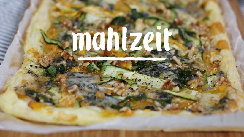Gorgonzola-Tarte: Was für ein Übereinander