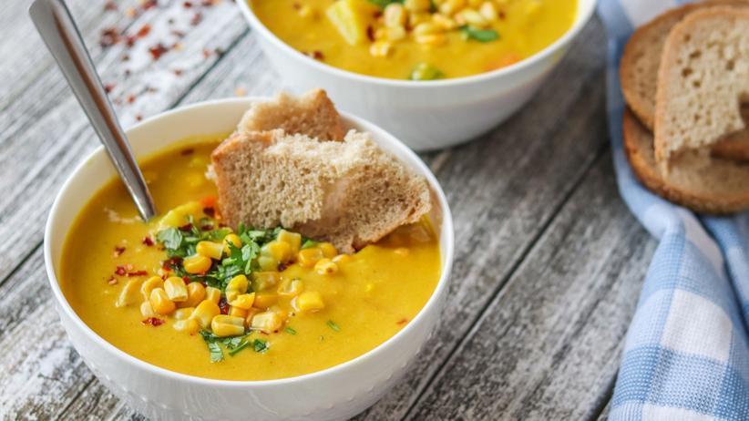 Cremige Maissuppe: Suppe gegen jede Wetterlage