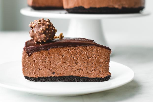 Marshmallow-Brownies: Nussnougatcreme macht den Cheesecake erst so richtig cremig.