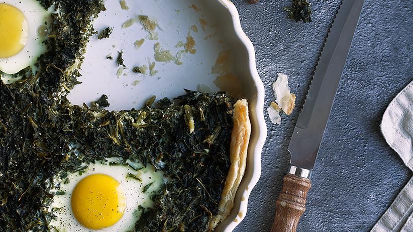 Grünkohltarte mit Eiern und Kümmel: Ein Gemüse von falscher Bescheidenheit