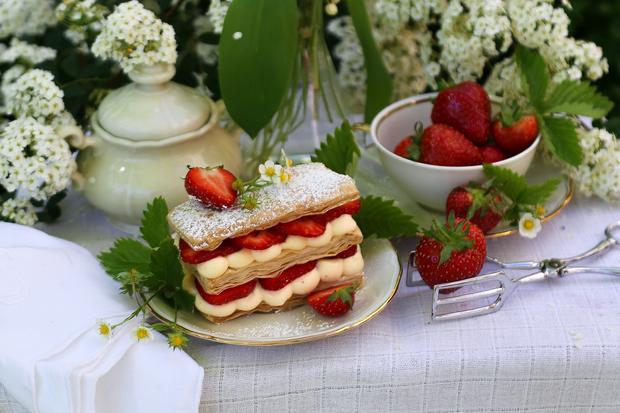 Erdbeer-Millefeuilles