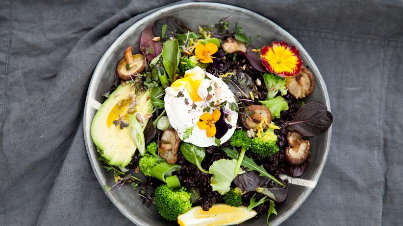 Schwarzer-Reis-Salat: Reis ohne Weiß