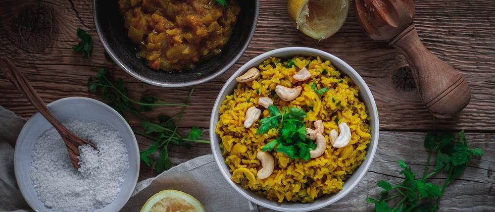 Ayurvedisches Reisgericht: Endlich entspannt essen