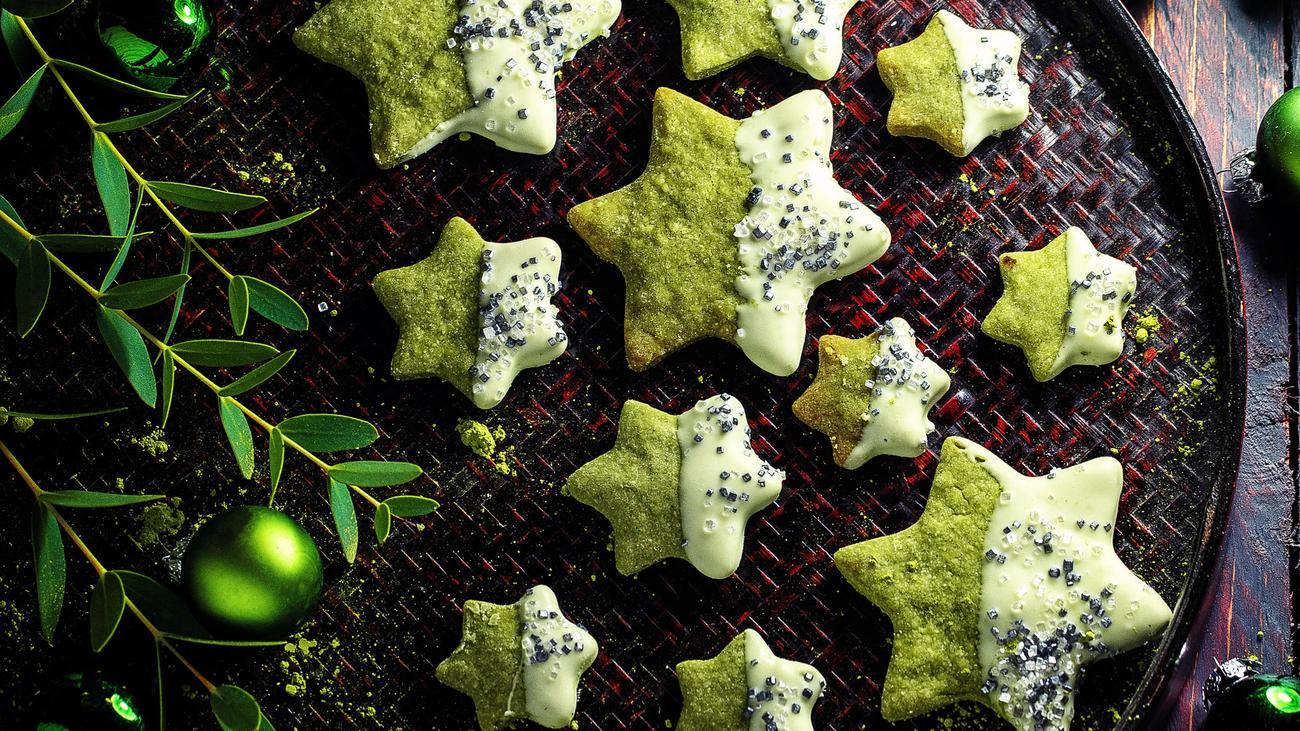 Grüne Matcha-Sterne: Im Ofen leuchten die Matcha-Sterne