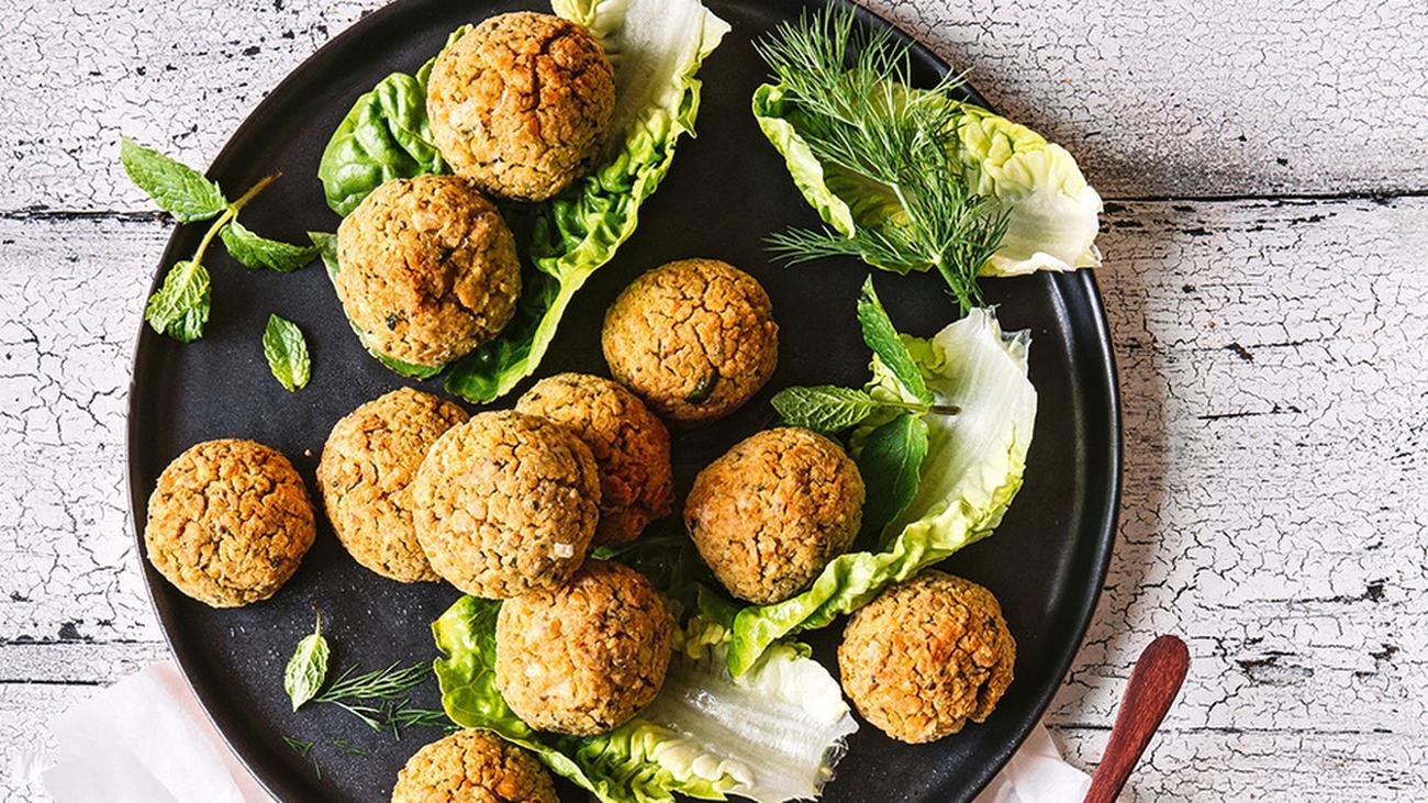 Falafel mit Safran-Joghurt-Dip: Schnell mal was Gutes