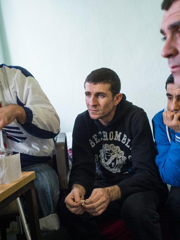 Ghayeb Youssouf (rechts), Abdulkadar Mustafa (Mitte) und Hussein Mohammed (links)