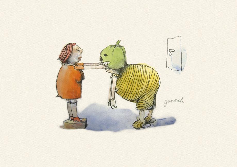 Janosch: Herr Janosch, soll man zu Halloween den Kürbis essen oder aushöhlen?