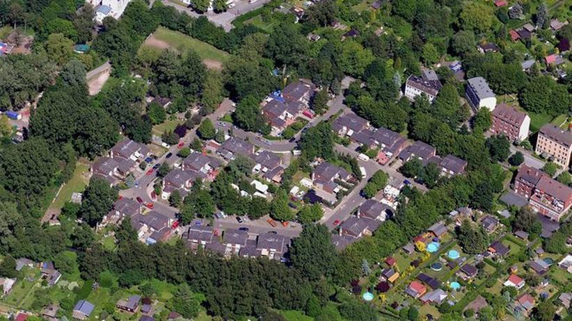 Luftbild: Georgswerder, Wohnort der Familie Weiss