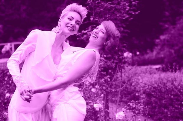 Lesben-Hochzeit: Zwei Bräute in Not