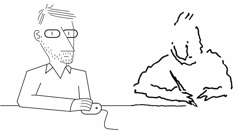 Illustration: Verwandter Strich