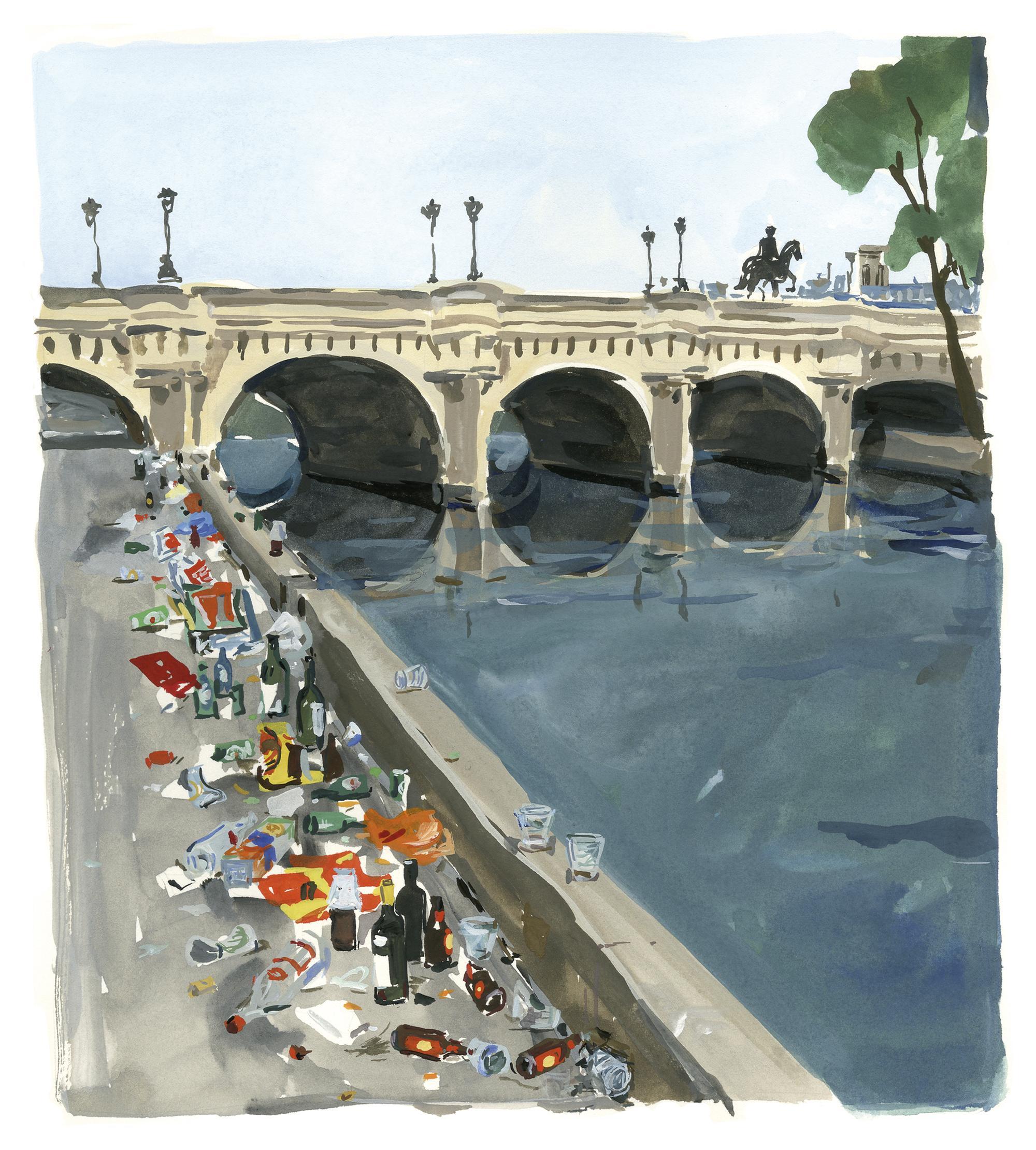 Pariser Tagebuch: Müll an der Seine