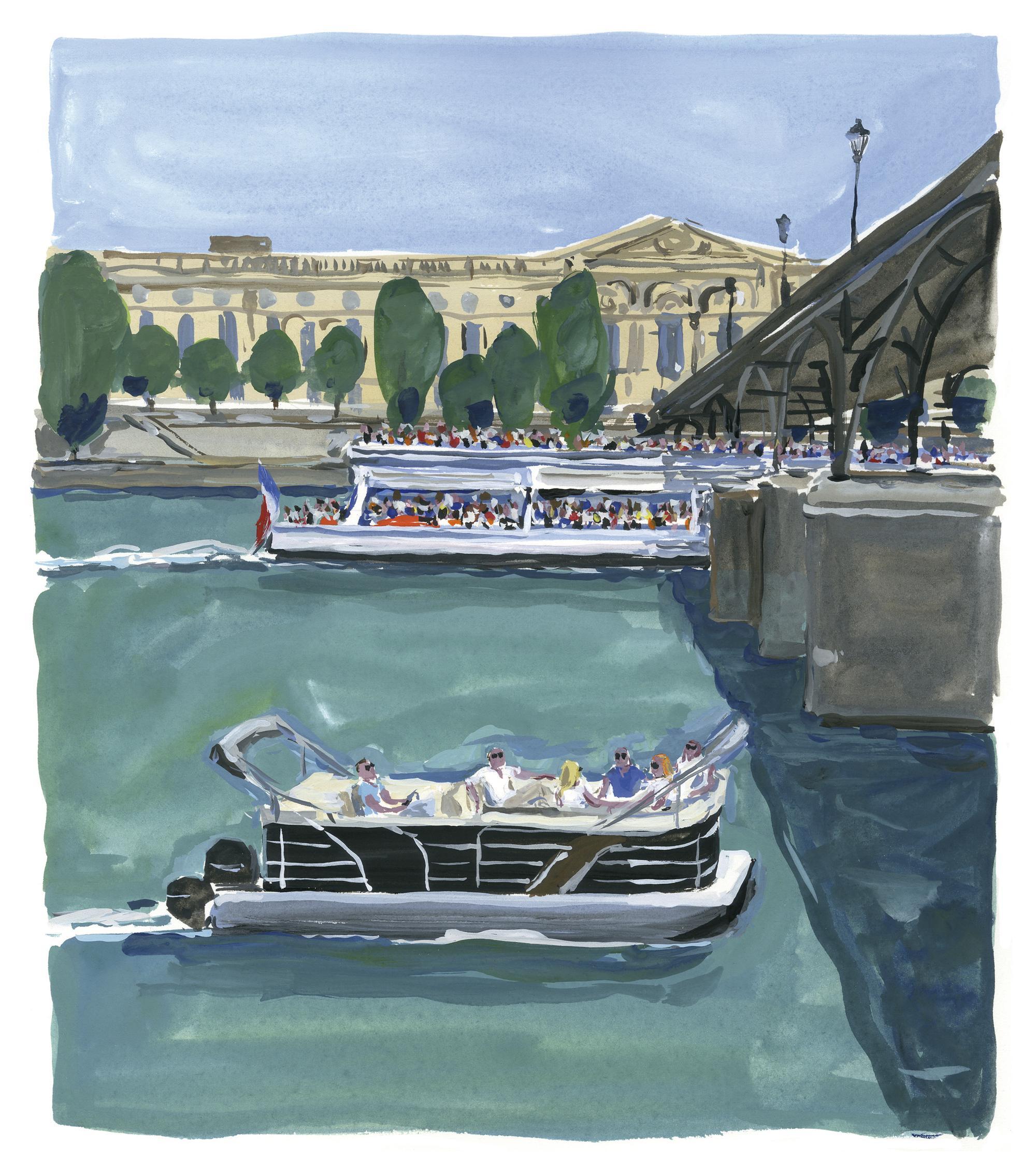 Pariser Tagebuch: Die schwimmende Lounge