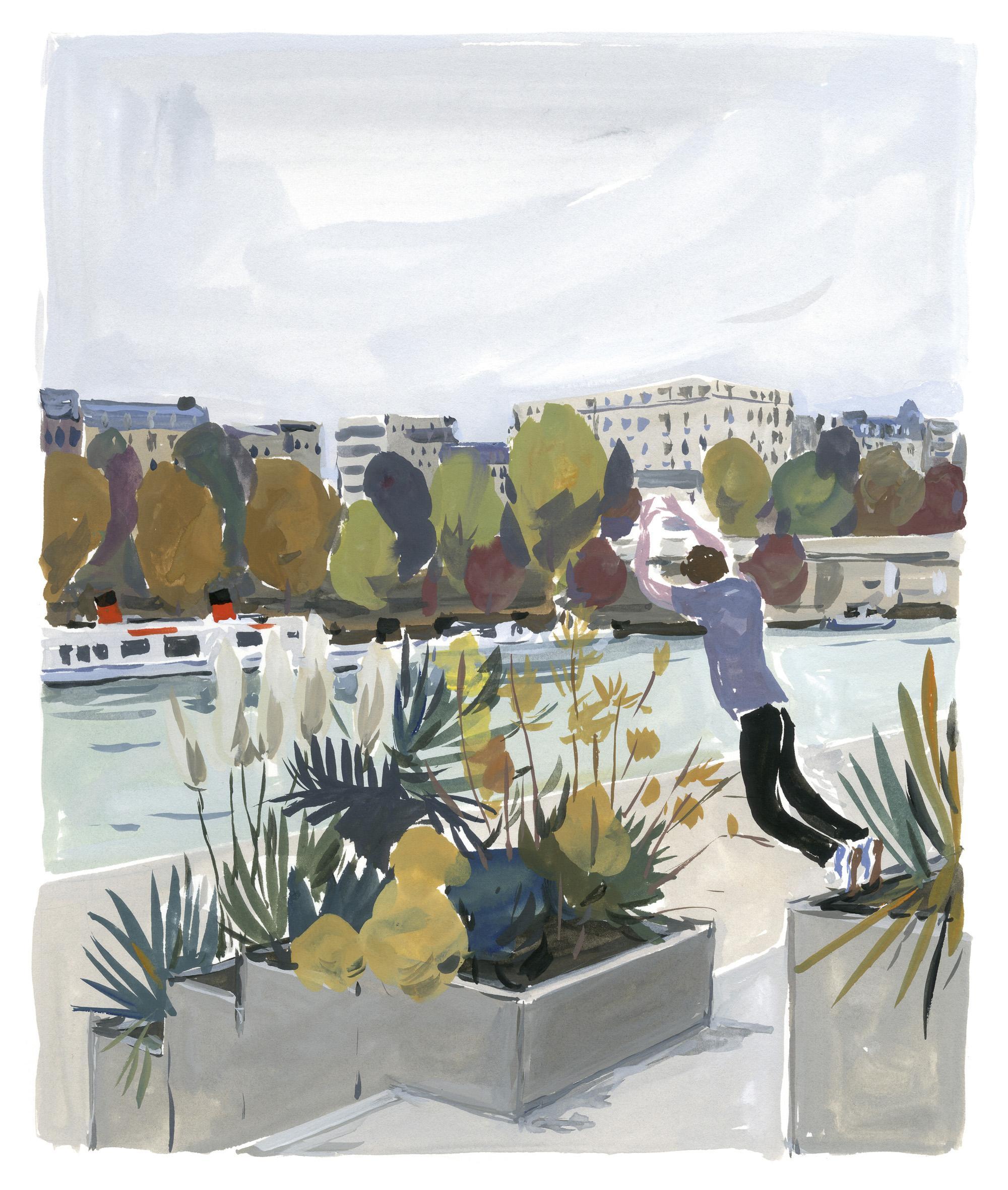 Pariser Tagebuch: Parkour am Quai de la Rappée
