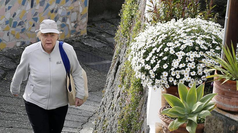 Angela Merkel auf Ischia