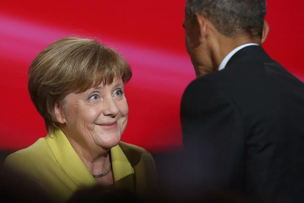 Gesellschaftskritik : Angela Merkel und Barack Obama in Hannover