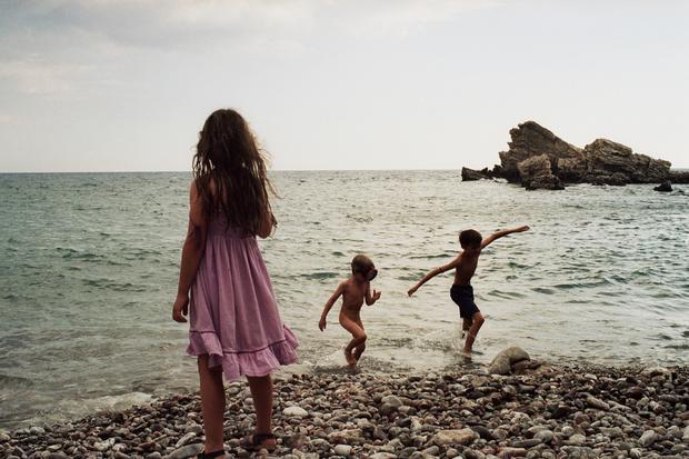Familienurlaub: Strand, Griechenland 2006