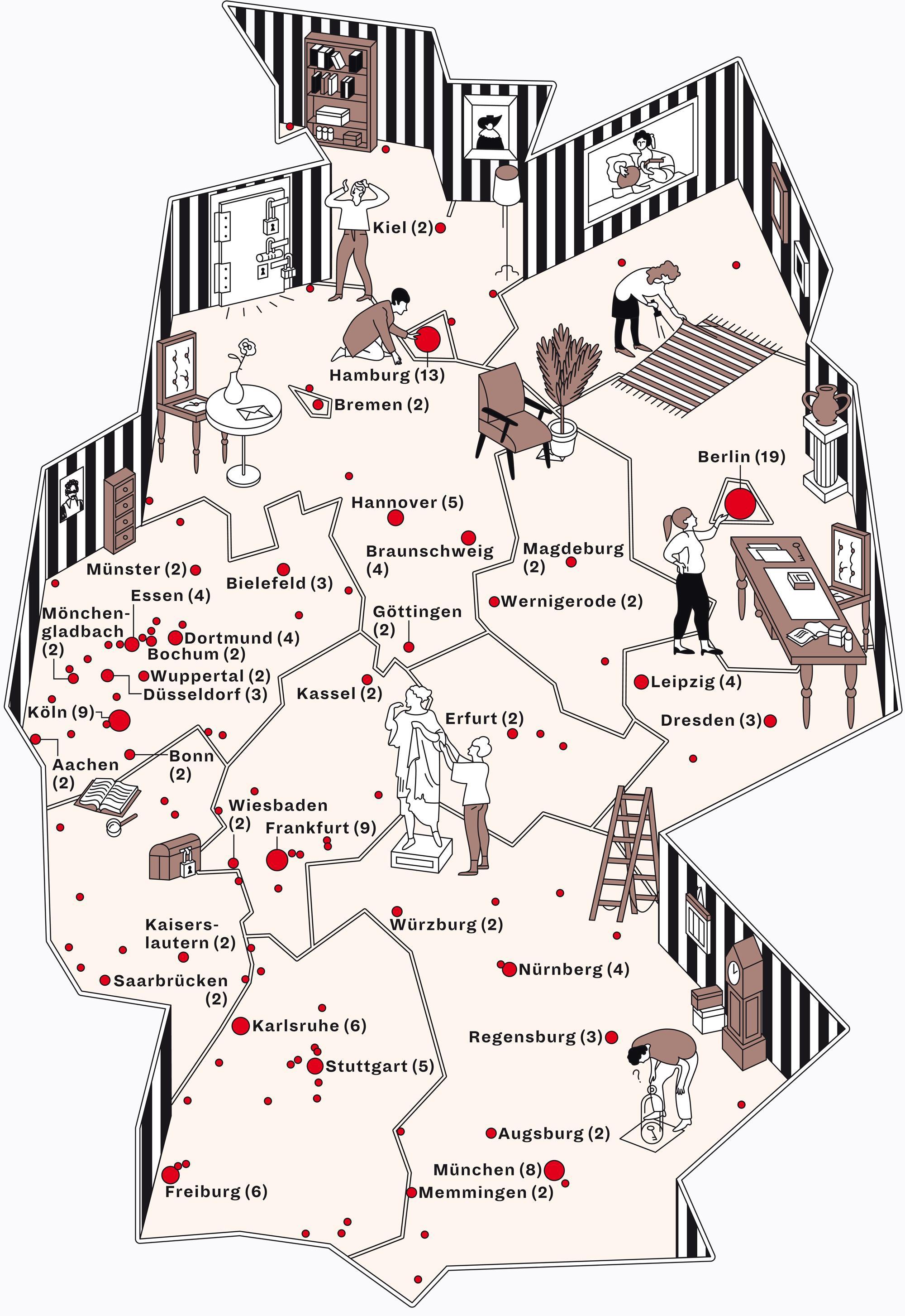 Deutschlandkarte: Escape-Rooms