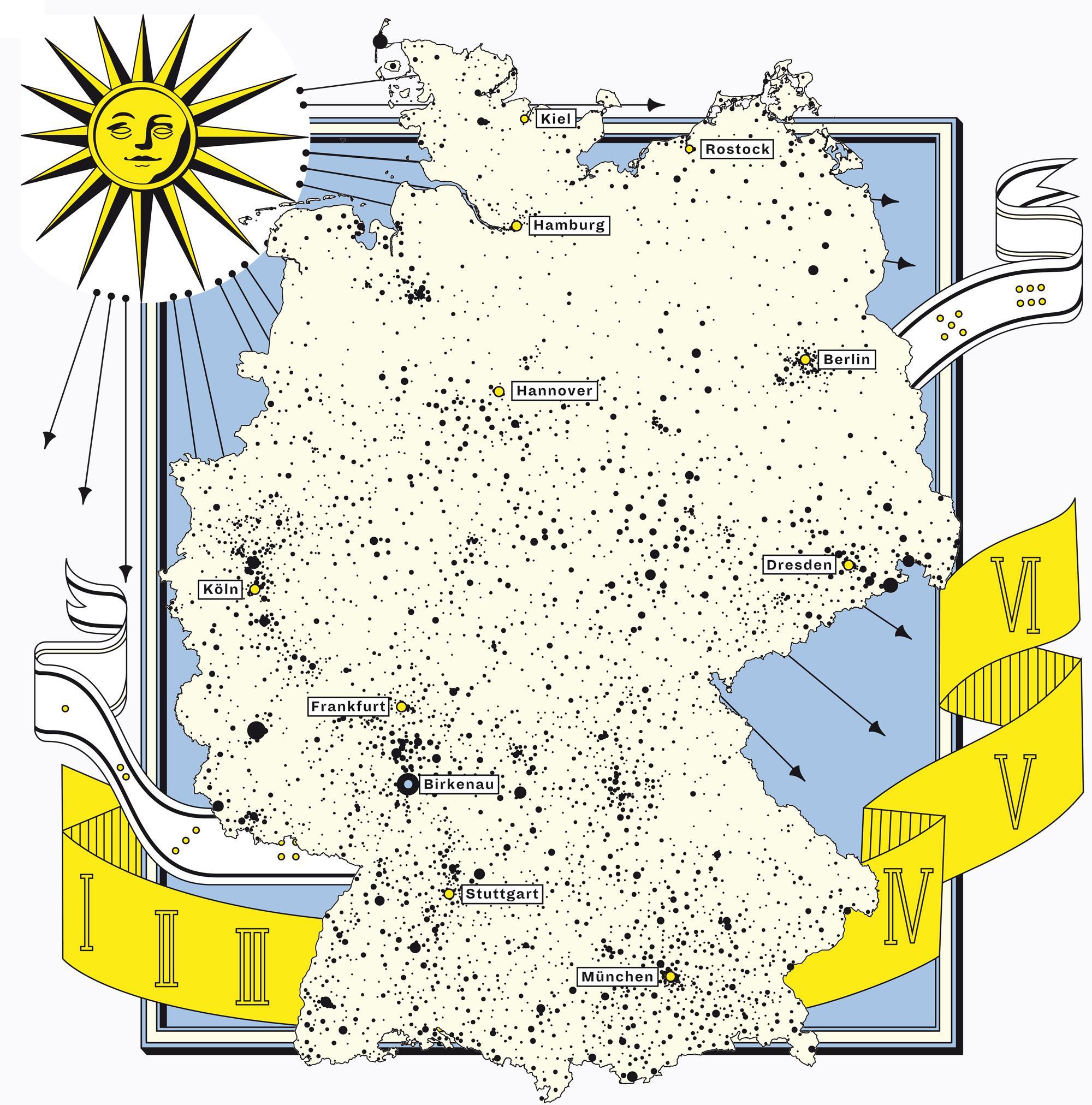 Deutschlandkarte: Die haben echt einen Schatten