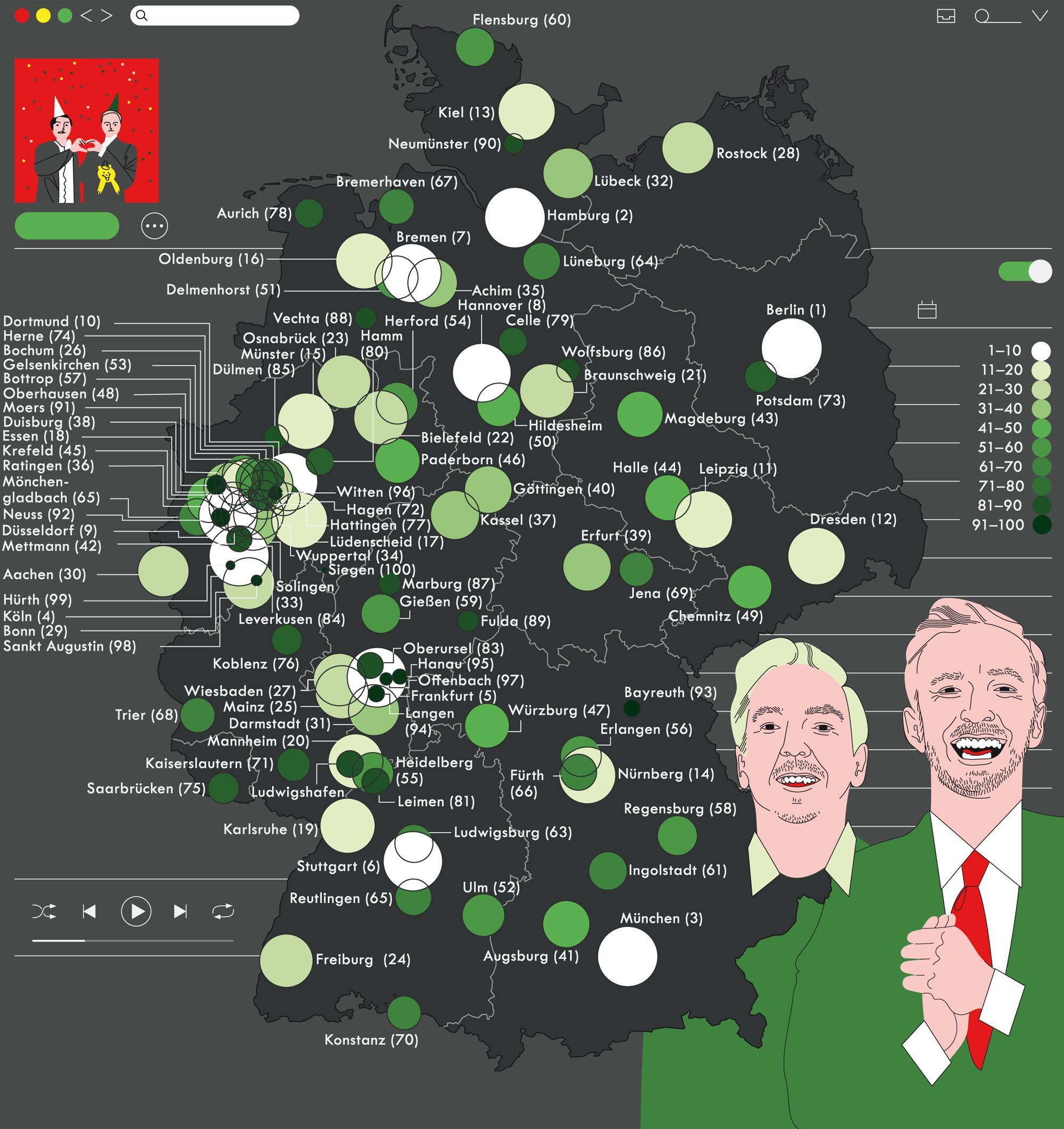 """Deutschlandkarte: """"Fest & Flauschig"""""""