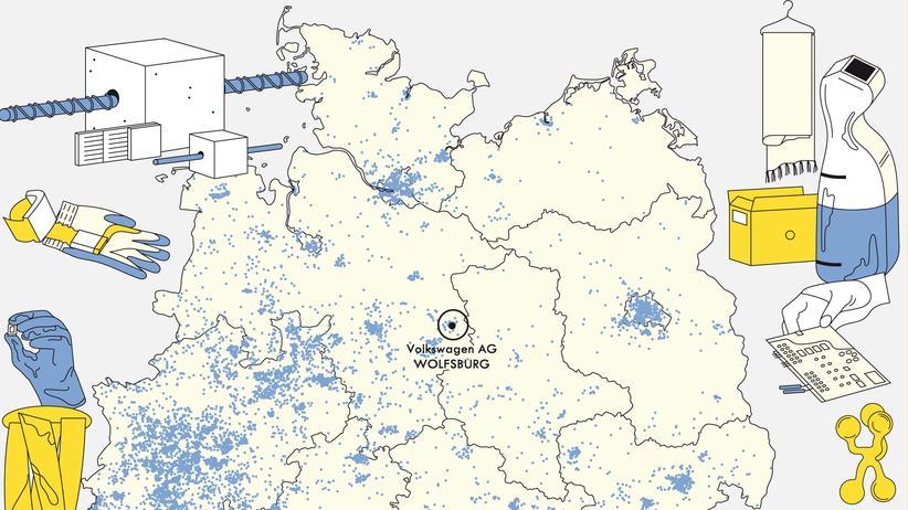 Deutschlandkarte: Im Land der Erfinder