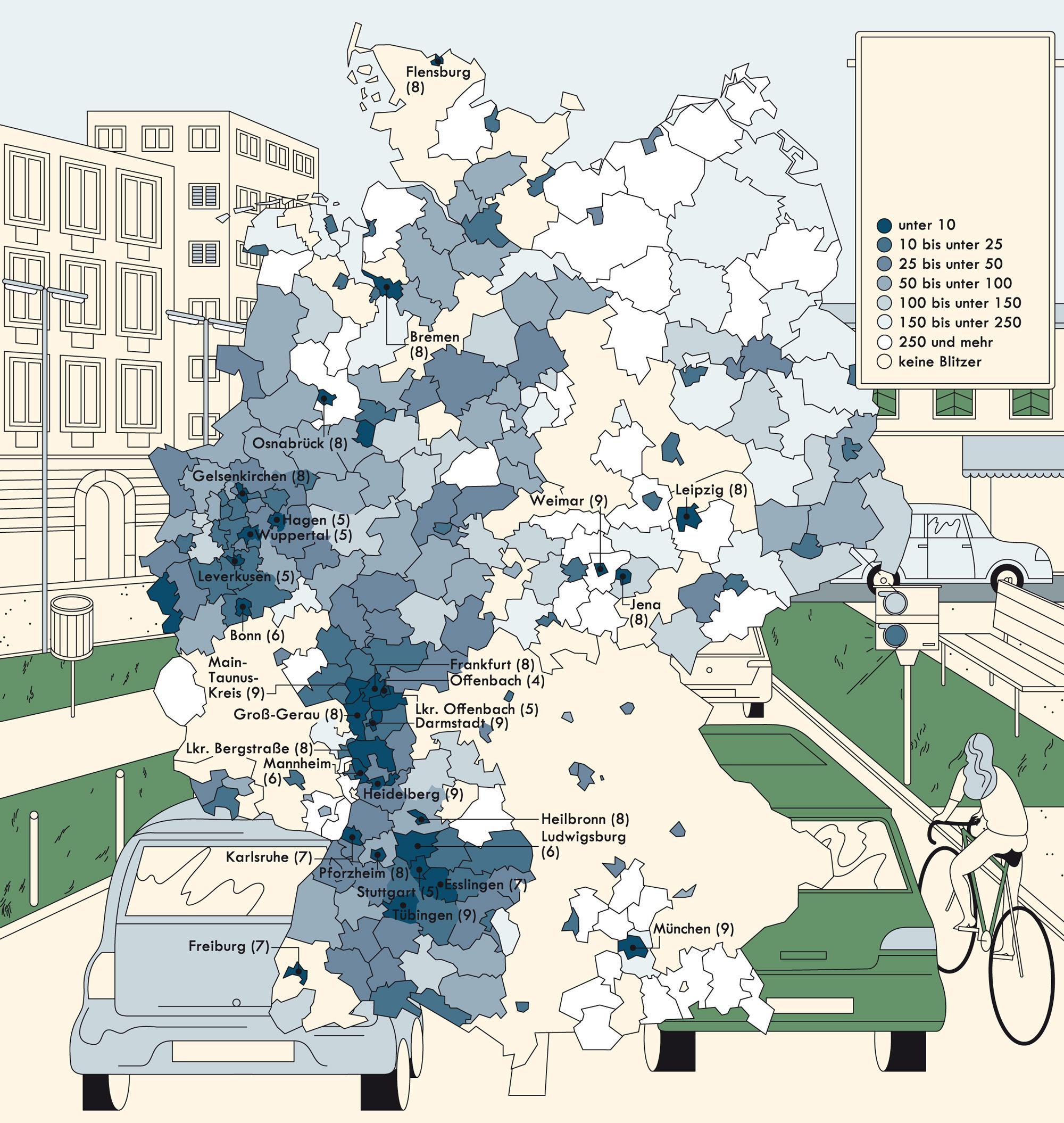 Deutschlandkarte: Blitzer