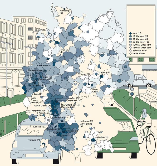 Blitzer Karte.Deutschlandkarte Blitzer Zeitmagazin