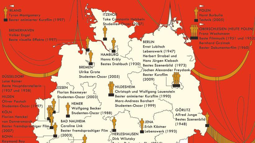 Deutschlandkarte: Im Westen was Goldenes