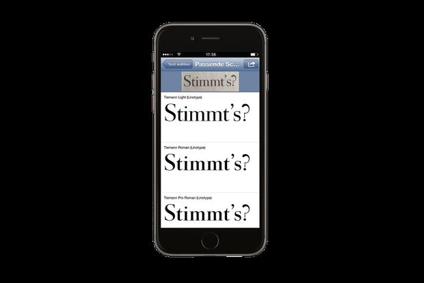 Unter Strom: Mirko Borsche testet eine App, die Schriftarten identifiziert