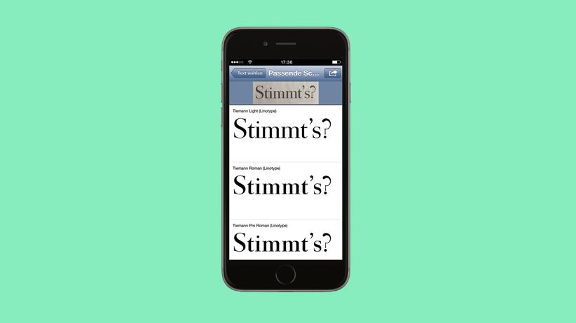 Typografie-App: Für Typo-Typen