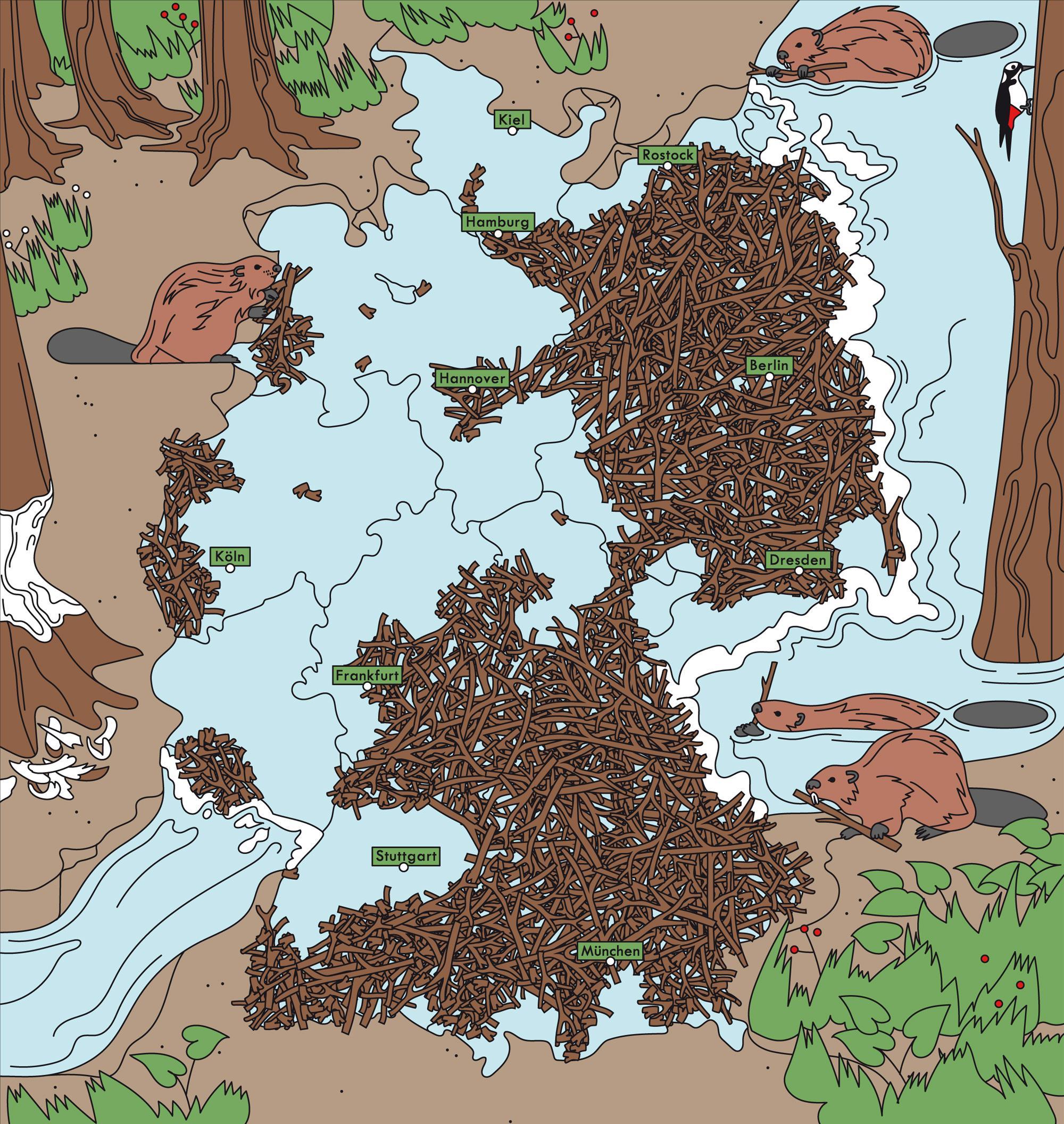 Deutschlandkarte: Biber