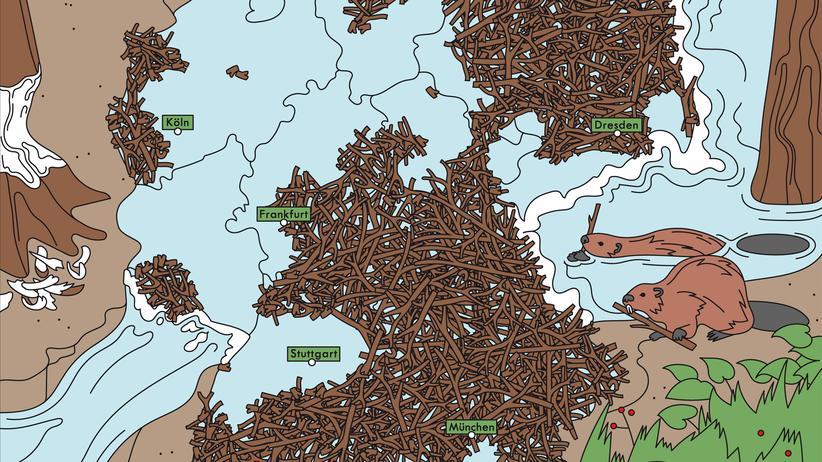 Deutschlandkarte: Nagende Nachbarn
