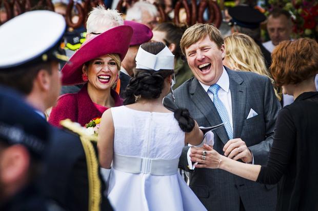 Niederlande: König Willem-Alexander und Königin Maxima am Königstag, den 27. April 2015