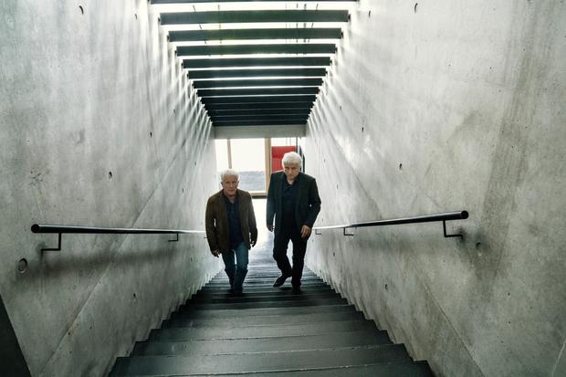 """""""Tatort"""" München: Kriminalhauptkommissare Franz Leitmayr (Udo Wachtveitl, R) und Ivo Batic (Miroslav Nemec)"""