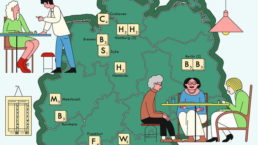 Scrabble-Treffen: Schlau kombiniert